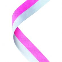 PINK/WHITE RIBBON TWO COLOUR